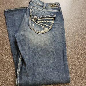 Silver Suki Surplus Jean's Size W32/L34